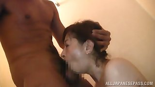 mature granny giving a stunning blowjob then gets ravished