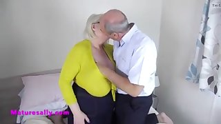 big tit granny fondled and felt up