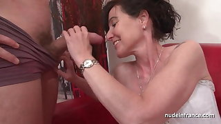 French squirt mature milf rock hard dual teamed