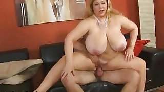 Mature European BBW Fucks Young Stud