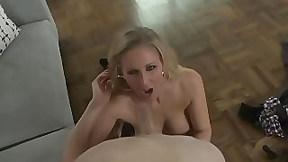 Busty mature titfucking and dicksucking
