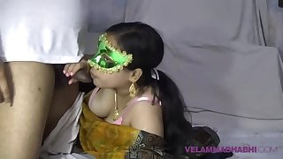Mature Indian MILF Bhabhi Velamma Sucking Big Sausage