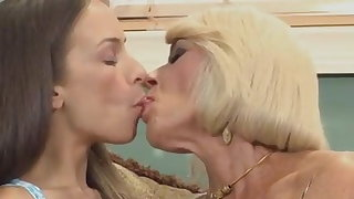 Teen pounds mature couple