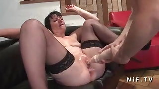 French mature hard anal nailed and dual knuckle screwed